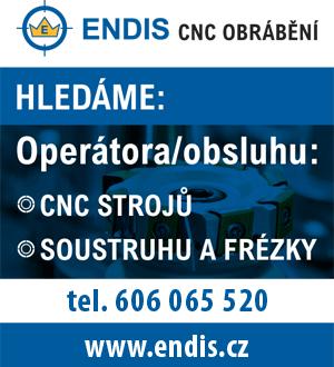 ENDIS CNC obrábění: Hledáme zaměstnance