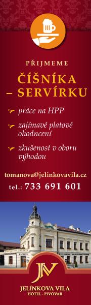 Jelínkova vila: Hledáme číšníka/servírku