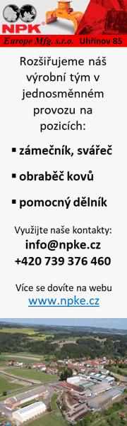 NPK Europe Uhřínov hledá zaměstnance
