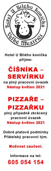 Hotel U Bílého koníčka přijme: Číšníka ? servírku a Pizzaře ? pizzařku
