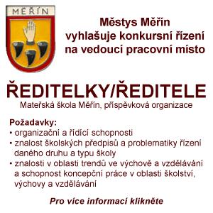 Mateřská škola Měřín hledá ředitelku/ředitele