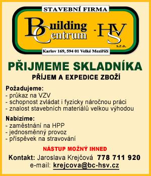 BUILDINGcentrum-HSV, s.r.o.: Přijmeme kolegu na pozici VEDOUCÍ SKLADU